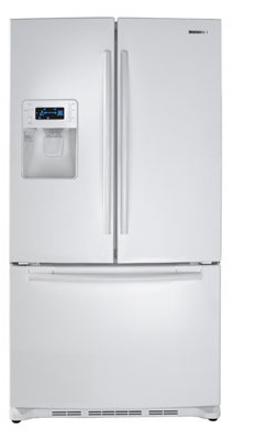 Samsung RF267AEWP 26 cu. ft. French Door Refrigerator, Twin Cooling System, Power Freeze, EZ Open Handle, Cool Tight Door, Surround Air Flow