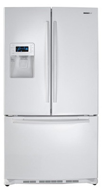 Samsung RF26XAEWP 26 cu. ft. French Door Refrigerator, 5 Spill Proof Glass Shelves, Power Freeze/Power Cool, Cool Tight Door, Premium External Water/Ice Dispenser, Digital Display