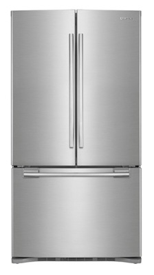 Samsung RFG293HARS 29 cu. ft. French Door Refrigerator, 5 Spill Proof Glass Shelves, Power Freeze/Cool, Cool Select Pantry w/ Temp. Control, Wine Rack, Internal Ice Dispenser