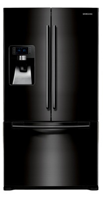 Samsung RFG297AABP 28.5 cu. ft. French-Door Refrigerator, 5 Glass Shelves, Spill Proof, Twin Cooling Plus, CoolSelect Pantry, Power Freeze/Cool Options, External Ice/Water Dispenser, LED Display
