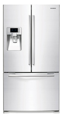 Samsung RFG297AAWP 28.5 cu. ft. French-Door Refrigerator, 5 Glass Shelves, Spill Proof, Twin Cooling Plus, CoolSelect Pantry, Power Freeze/Cool Options, External Ice/Water Dispenser, LED Display