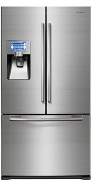 Samsung RFG299AARS 28.5 cu. ft. French-Door Refrigerator, 5 Glass Shelves, Spill Proof, Twin Cooling Plus, CoolSelect Pantry, Power Freeze/Cool Options, External Ice/Water Dispenser, 7