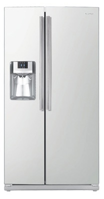 Samsung RS261MDWP 26 cu. ft. Side by Side Refrigerator, 4 Tempered Glass Spill Proof Shelves, Power Freeze/Cool Options, LED Lighting, Compact Icemaker, Door Alarm, External Ice/Water Dispenser