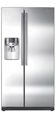 Samsung RS265TDPN 26 cu. ft. Side by Side Refrigerator, 4 Spill Proof Glass Shelves, Twin Cooling System, Power Freeze/Cool Options, In-door Icemaker, External Filtered Water/Ice Dispenser