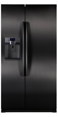 Samsung RSG257AABP 24.1 cu. ft. Counter-Depth Side by Side Refrigerator, Twin Cooling Plus, Power Freeze/Cool Options, External Ice/Water Dispenser, In-Door Ice Maker, LED Lighting, Wine Rack