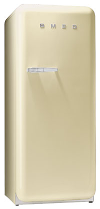 Smeg FAB28UP 9.22 cu. ft. 50's Style Refrigerator, Antibacterial Interior, Ice Compartment, Adjustable Glass Shelves