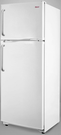 Summit FF1062WTB 9.4 cu. ft. Counter-Depth Top-Freezer Refrigerator with Adjustable Glass Shelves, Turbo Flow Air System, Interior Light and Energy Efficient Design