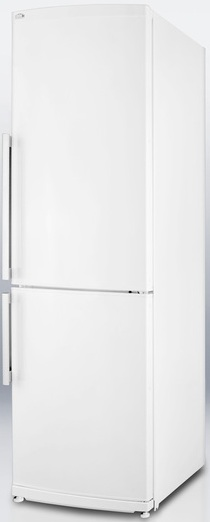Summit FFBF240W 9.85 cu. ft. Counter-Depth Bottom-Freezer Refrigerator, Adjustable Glass Shelves, Wine Shelf, Quick Freezer Compartment, Frost Free