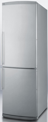 Summit FFBF245SS 9.85 cu. ft. Counter-Depth Bottom-Freezer Refrigerator, Adjustable Glass Shelves, Wine Shelf, Quick Freezer Compartment, Frost Free