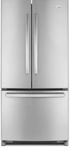 Whirlpool Gold GX2FHDXVA 22 cu. ft. French Door Refrigerator, 4 Adjustable SpillProof Shelves, Humidity-Controlled Crispers, Factory Installed IceMaker